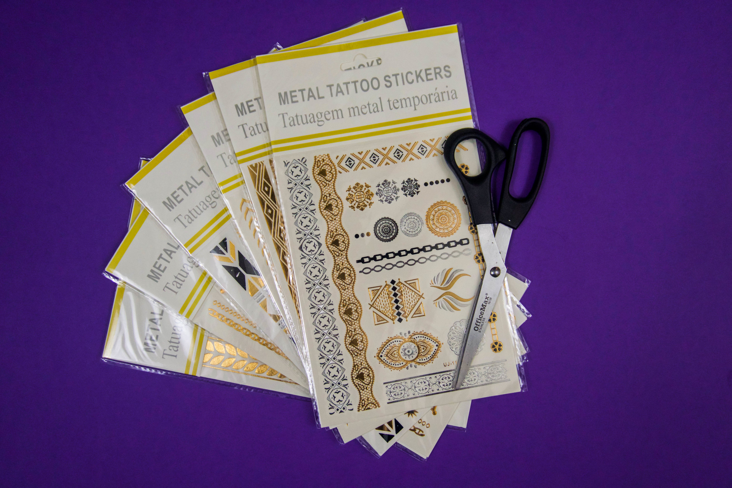 DIY for making the most out of your metallic flash tattoo's for Coachella