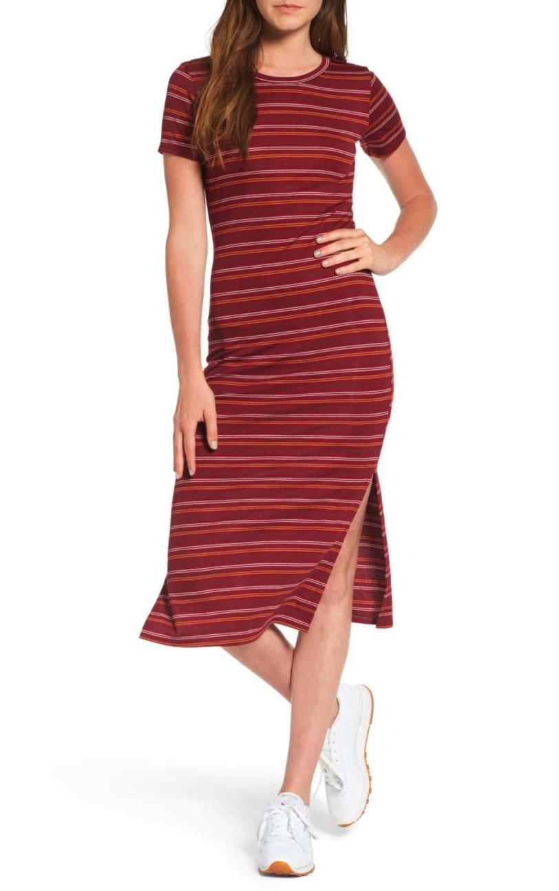 Stripe Midi T-Shirt Dress