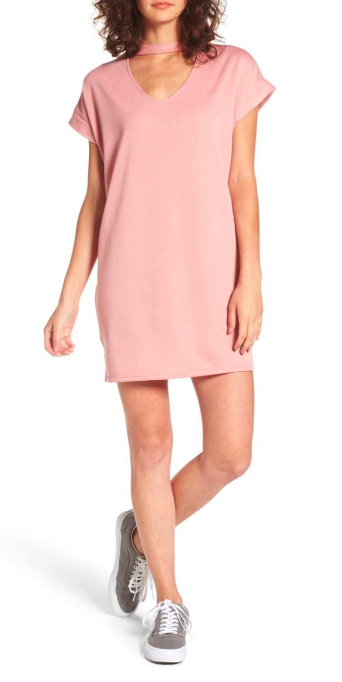 Cotton Emporium Sweatshirt Choker Dress