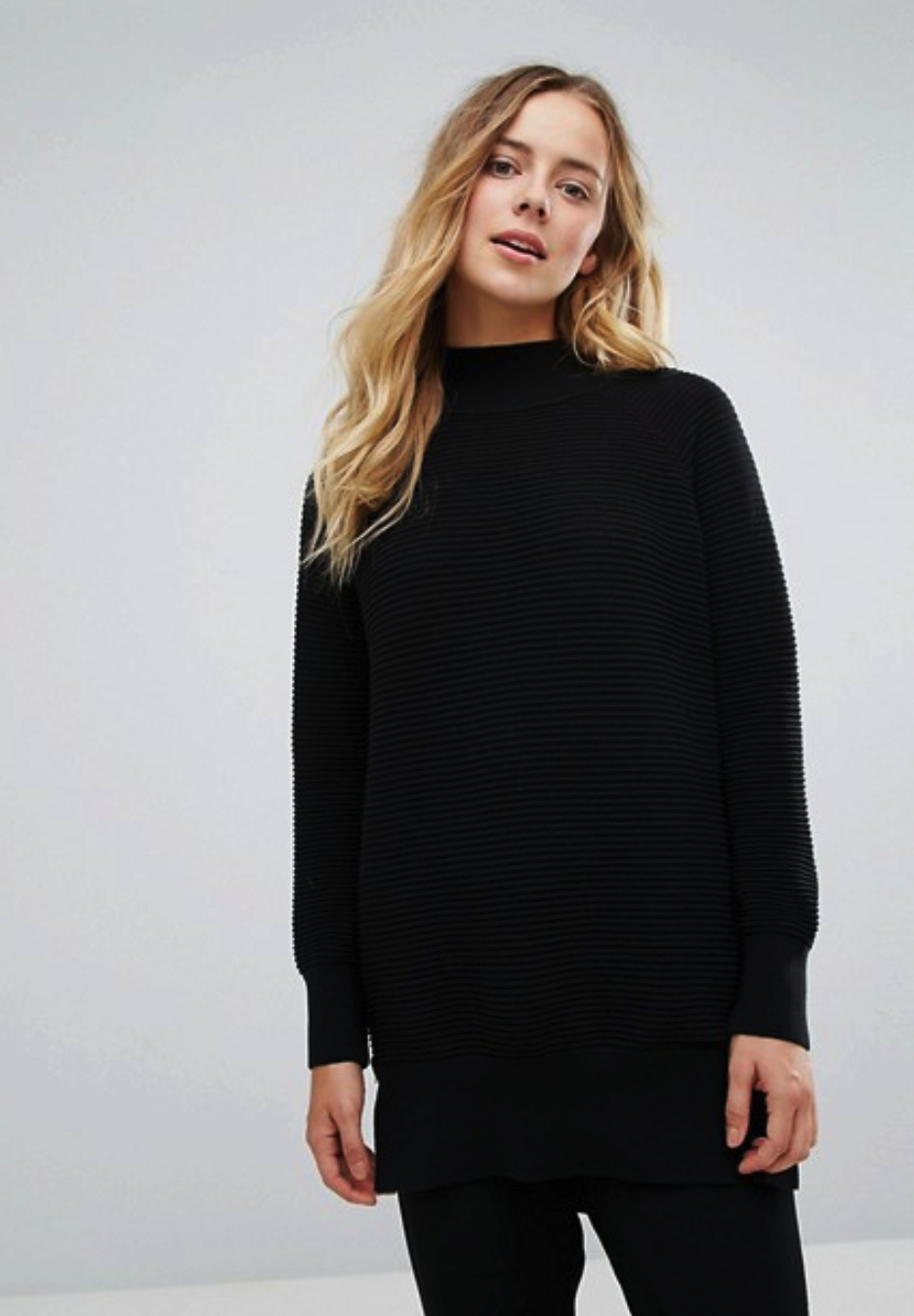 French Connection Ottoman High Neck Oversized Sweater