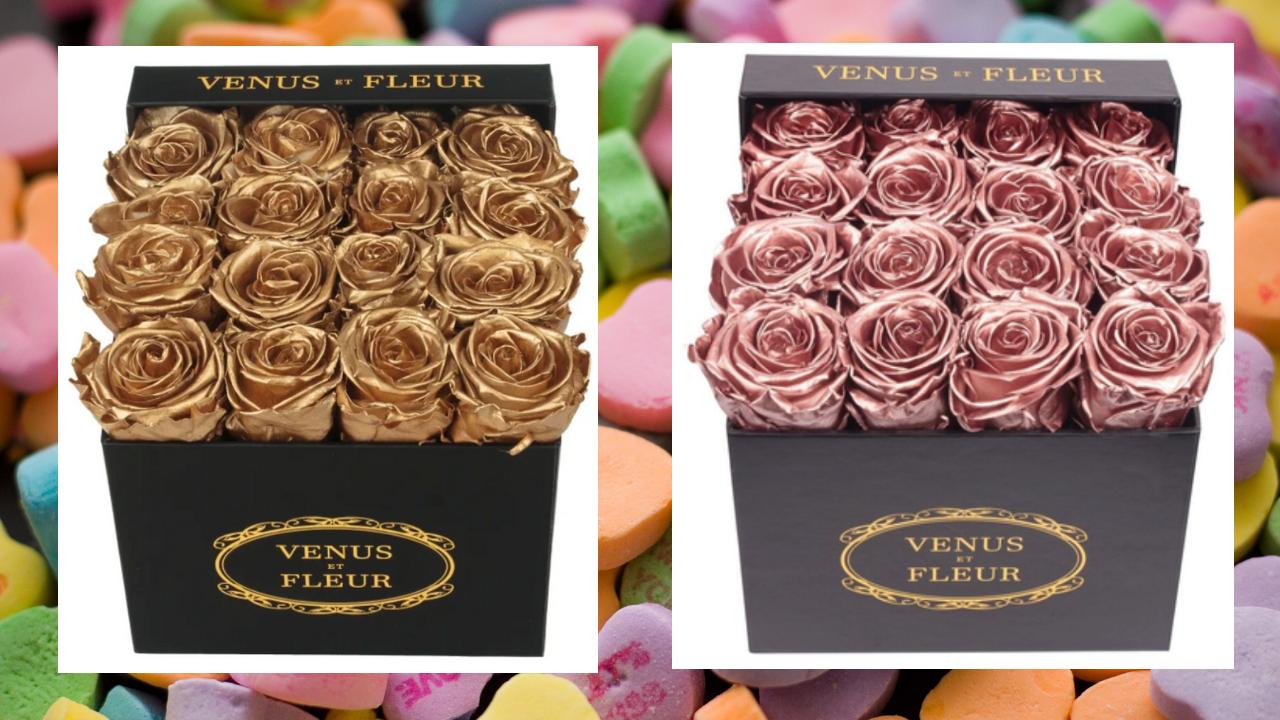 Venus et Fleur Small Box of Roses:    Buy Here