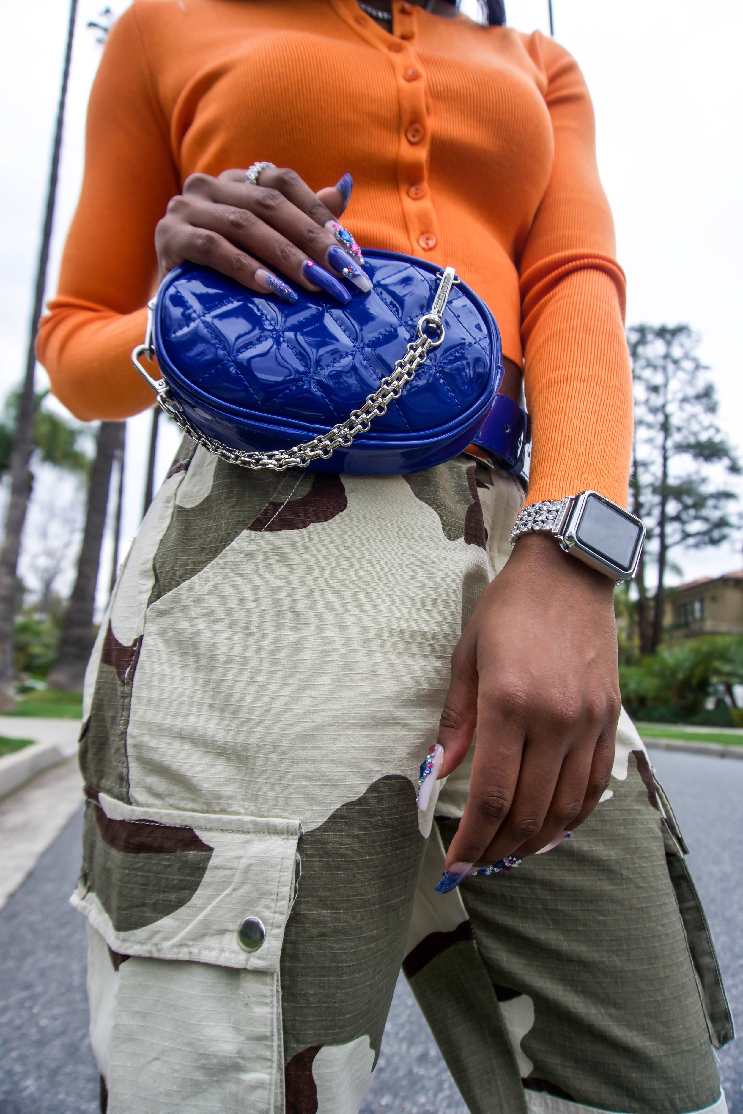Top:  Missguided //  Belt Bag:  Steve Madden //  Pants:  Missguided