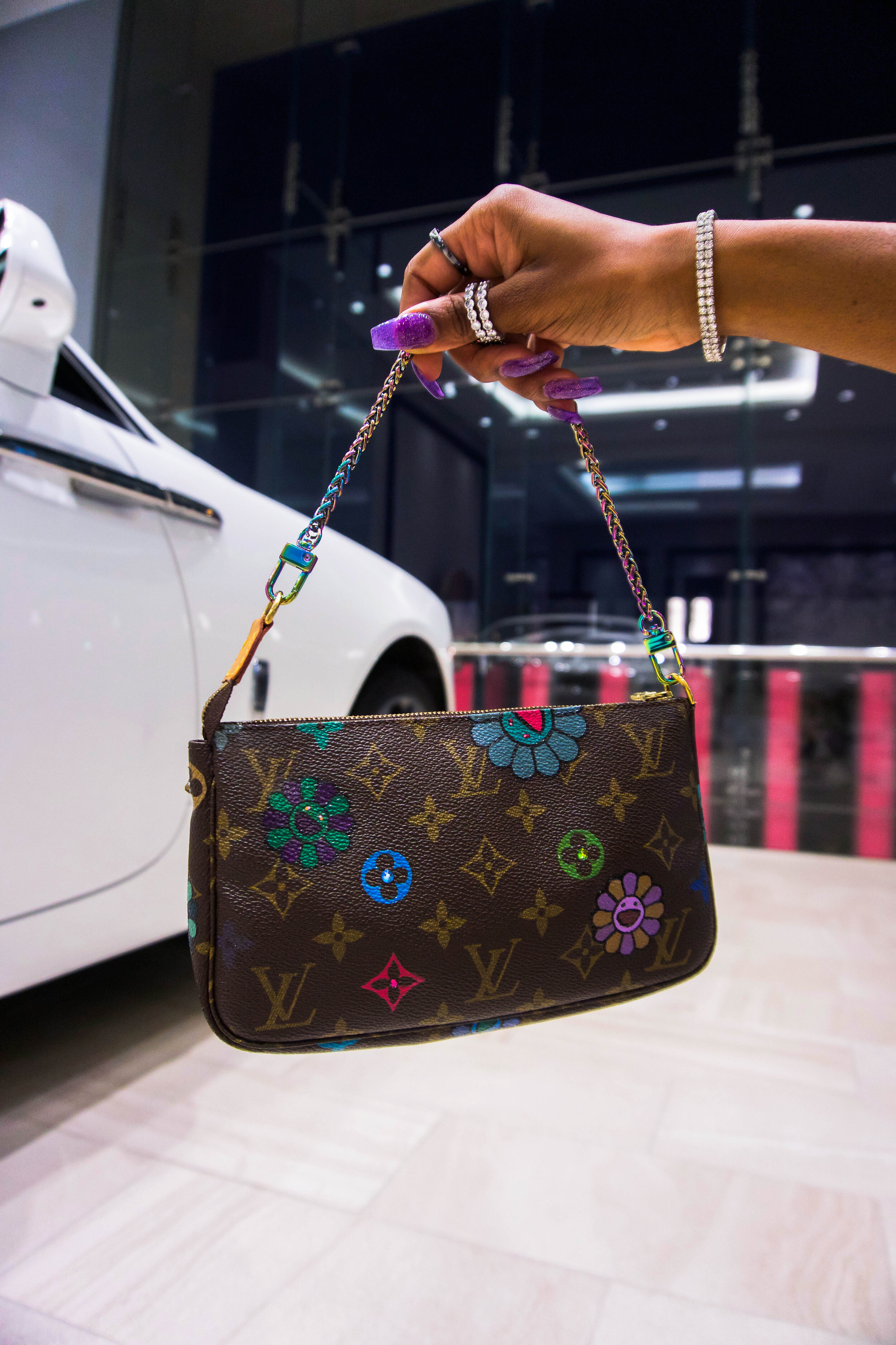 Bag:   Louis Vuitton x BTD