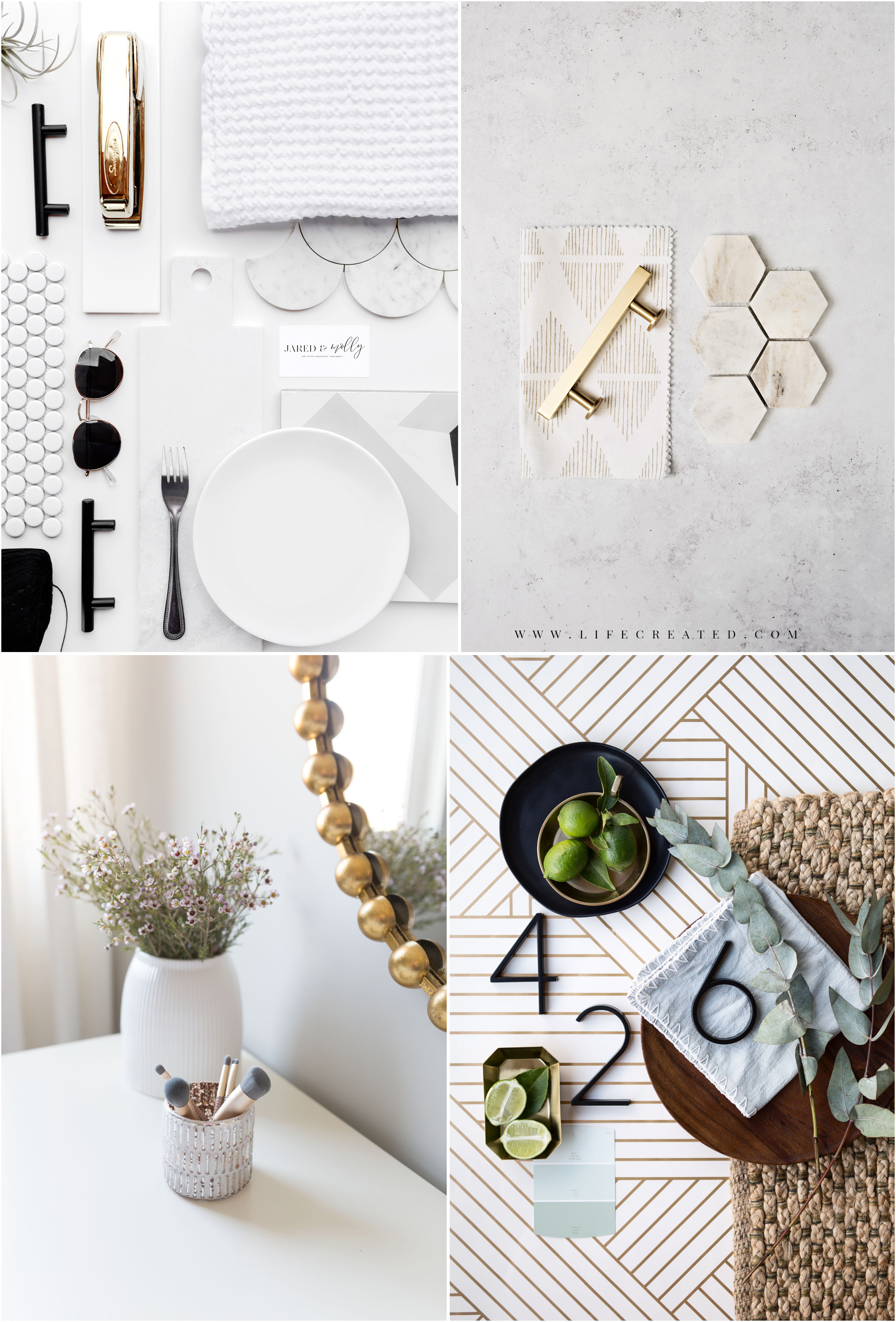 Design flat lays and details