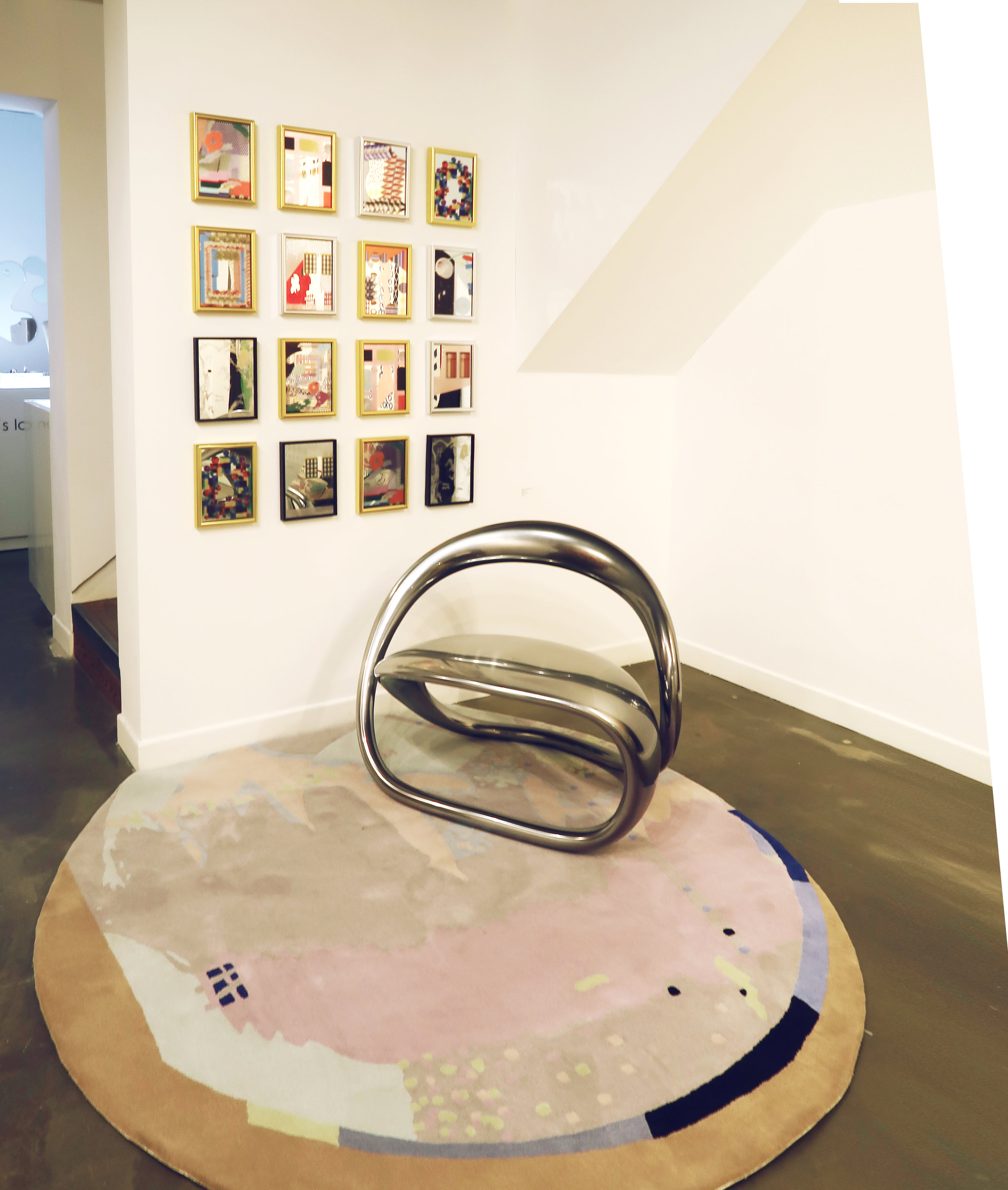 Mirror Mirror, 180mm * 240mm, Mirror  Surface, 1700mm * 1700mm, Wool, Hand-tufted Carpet