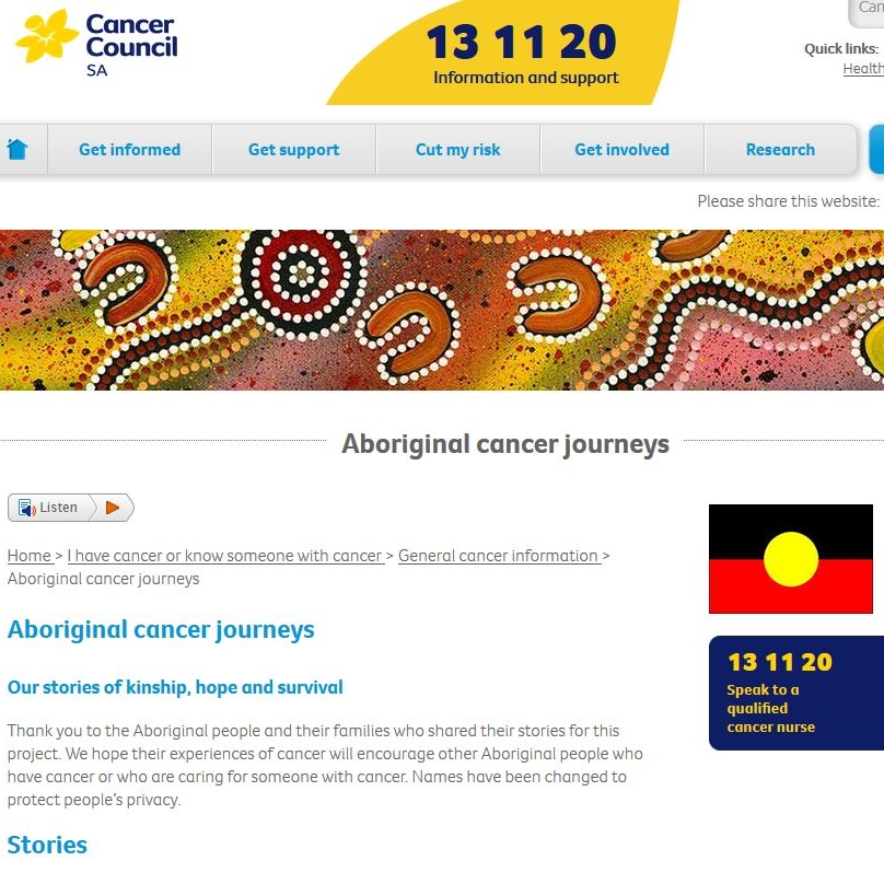 Aboriginal Cancer Journerys