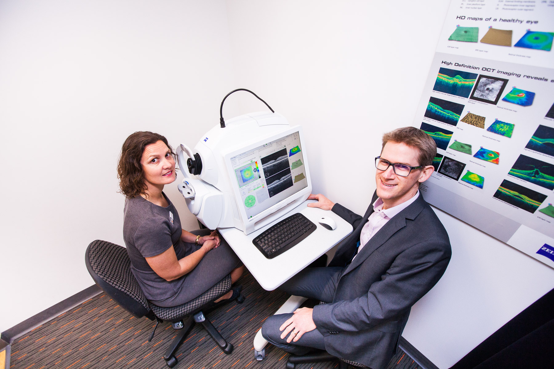 OCT scanning at Eyre Eye Centre