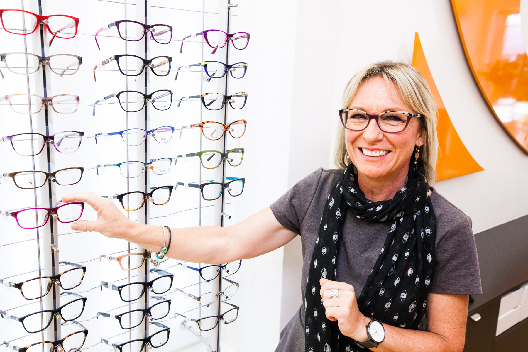 Fashion frame range at Eyre Eye Centre