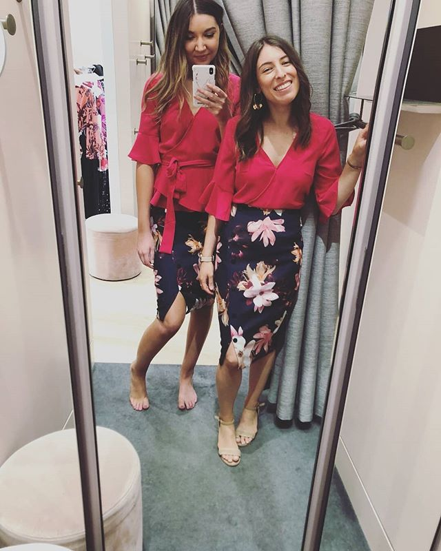 Twinning. When your clients need specific colours for work and end up in the same pieces! Proof that different pieces can suit different heights and shapes, it's all about how you style it. #personalistylist #work @portmans_
