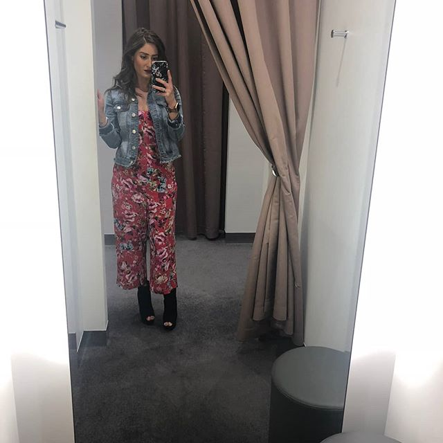 Been out in the stores with clients a lot these past weeks and am loving my @targetau #danniminoguepetits denim jacket. Perfect with my @forevernew_official jumpsuit. Another to add to the collection...🙄#jumpsuitaddition #sundaystyle