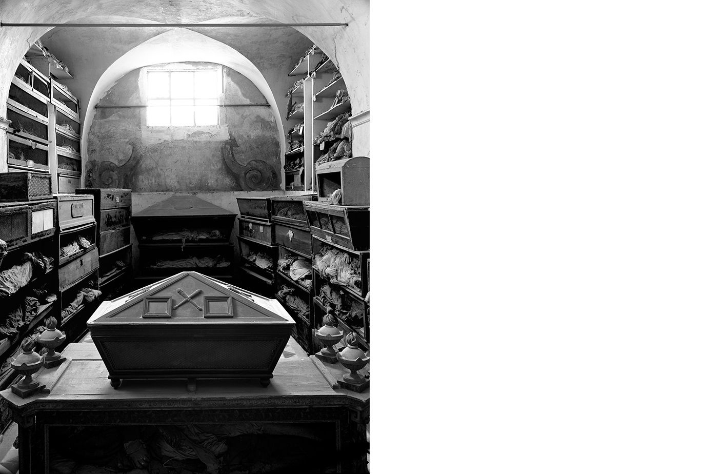 6416-01 Catacombe #40  Platinum Palladium Print 17.50 x22.00 inch Image Size 24.00 x 29.00 inch Paper Size 1 BAT / 4 AP / 24 EDP