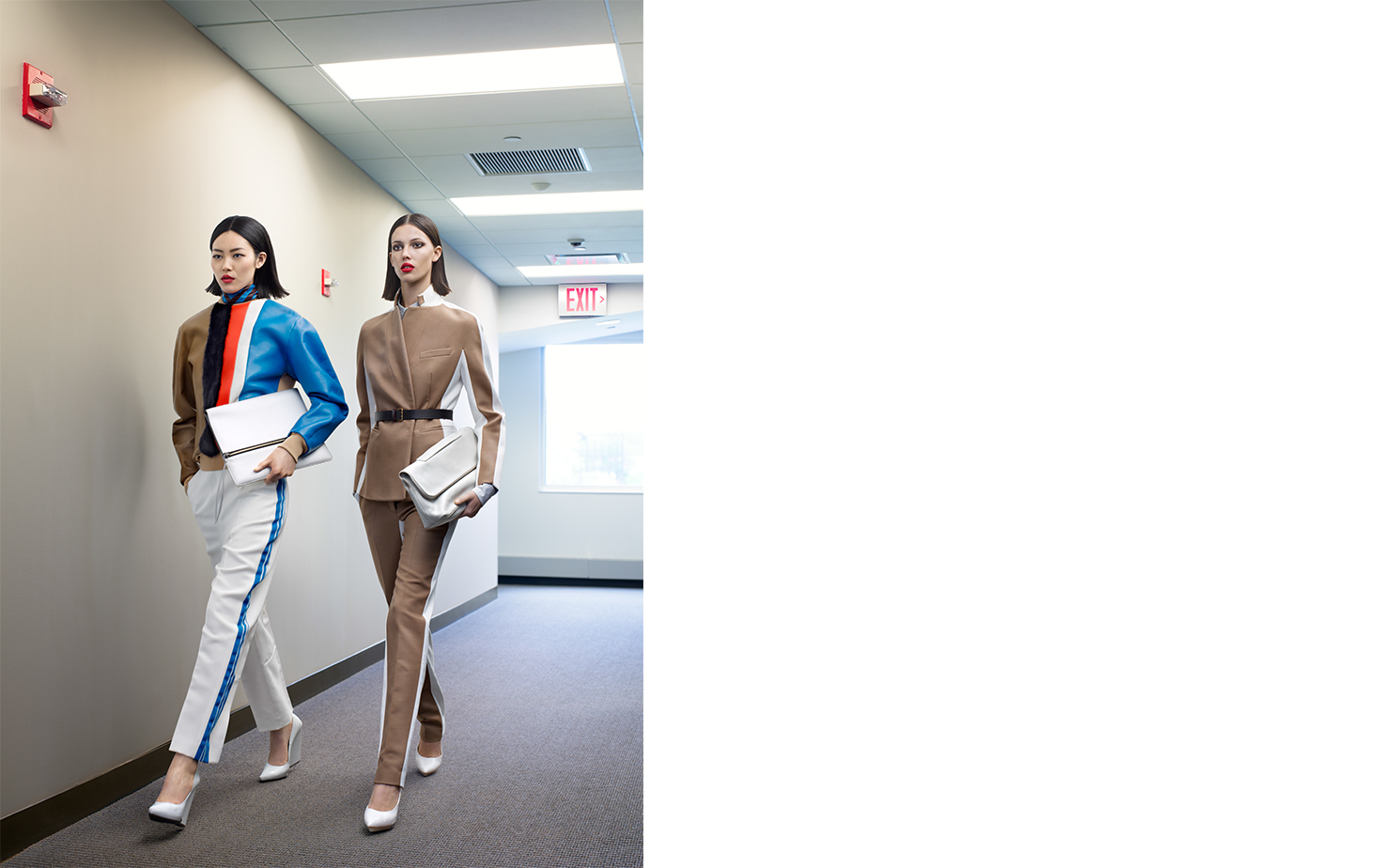 Vogue TWO OF A KIND   FASHION EDITOR Elissa Santisi MODELS Liu Wen, Ruby Aldridge