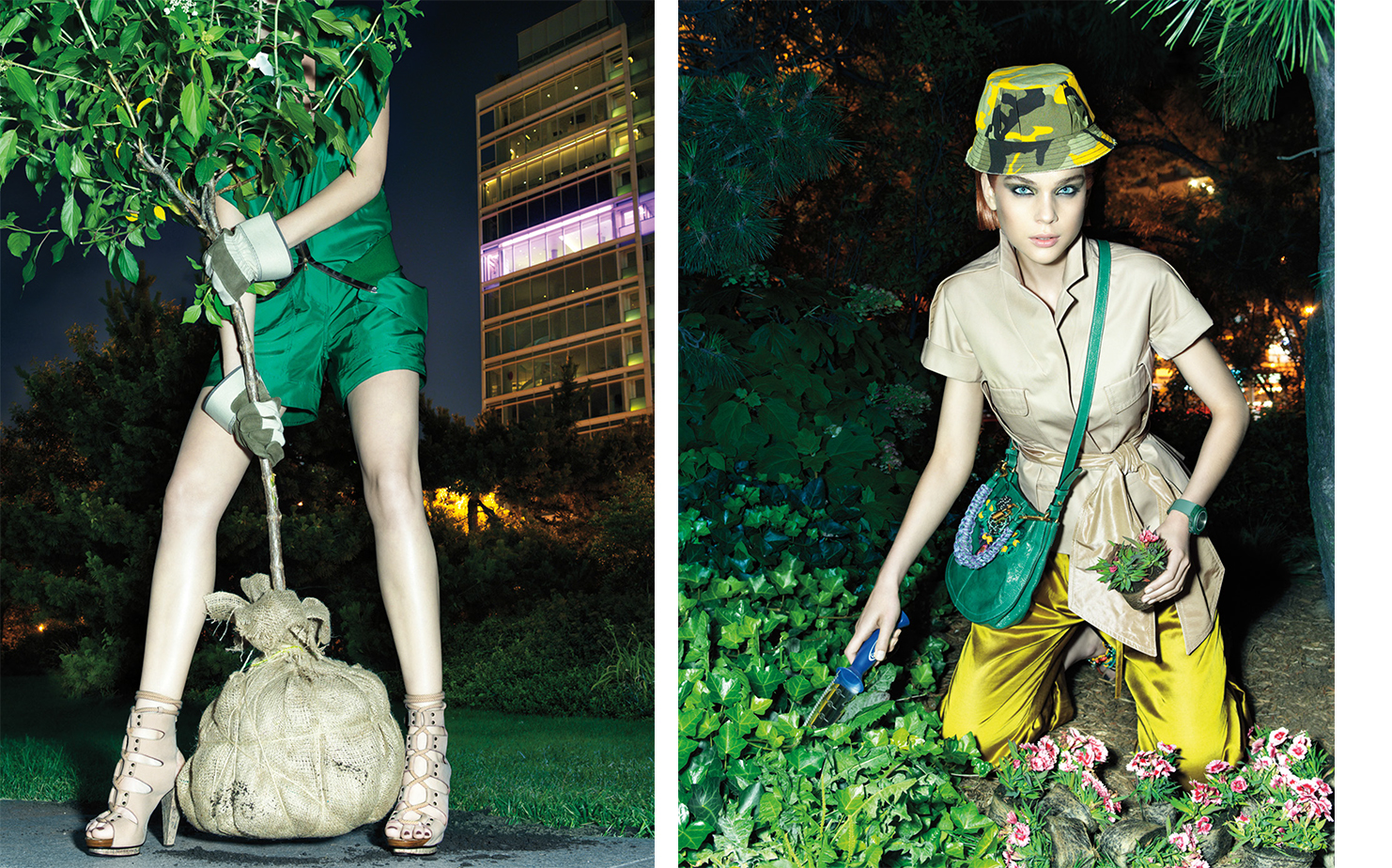 Vogue MIDNIGHT IN THE GARDEN OF GOOD   FASHION EDITOR Elissa Santisi MODEL Kim Noorda