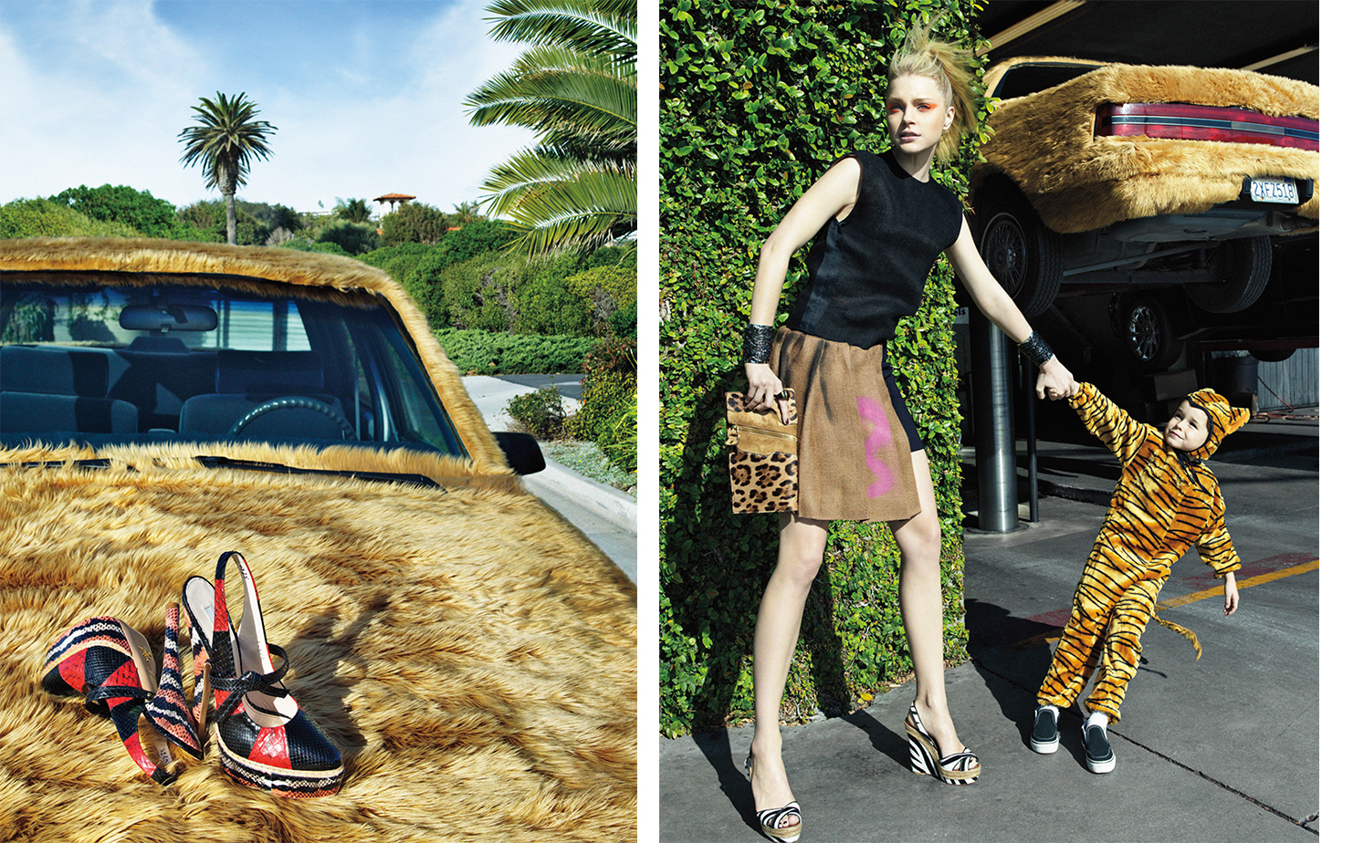 Vogue BORN TO BE WILD   FASHION EDITOR Elissa Santisi MODEL Jessica Stam
