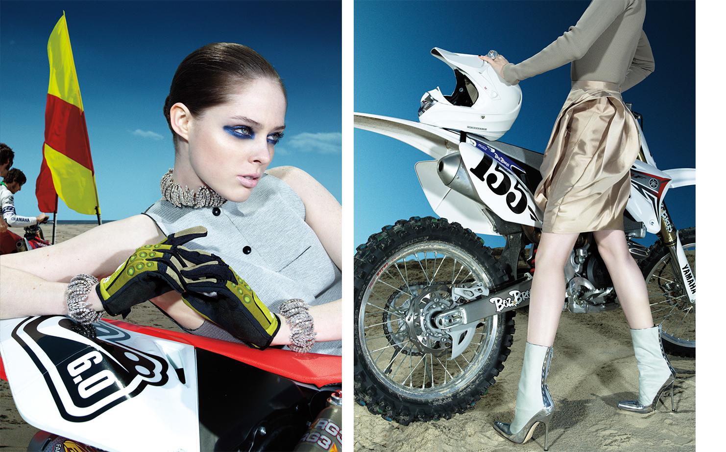Vogue MOTOCROSS   FASHION EDITOR Elissa Santisi MODEL Coco Rocha