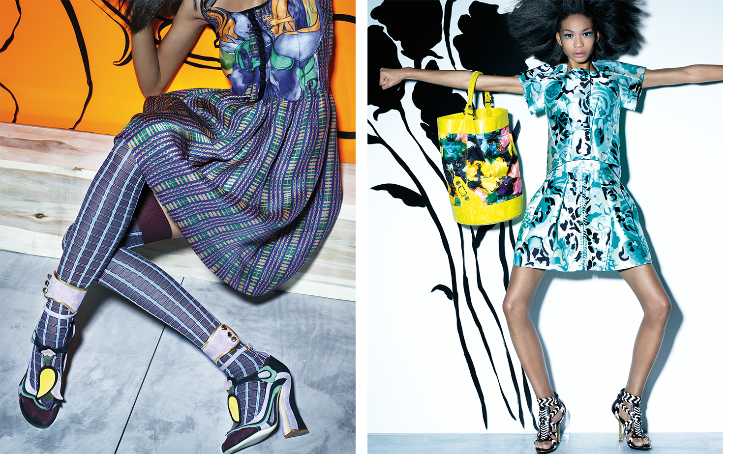 Vogue FULL TINT AHEAD   FASHION EDITOR Elissa Santisi MODEL Chanel Iman