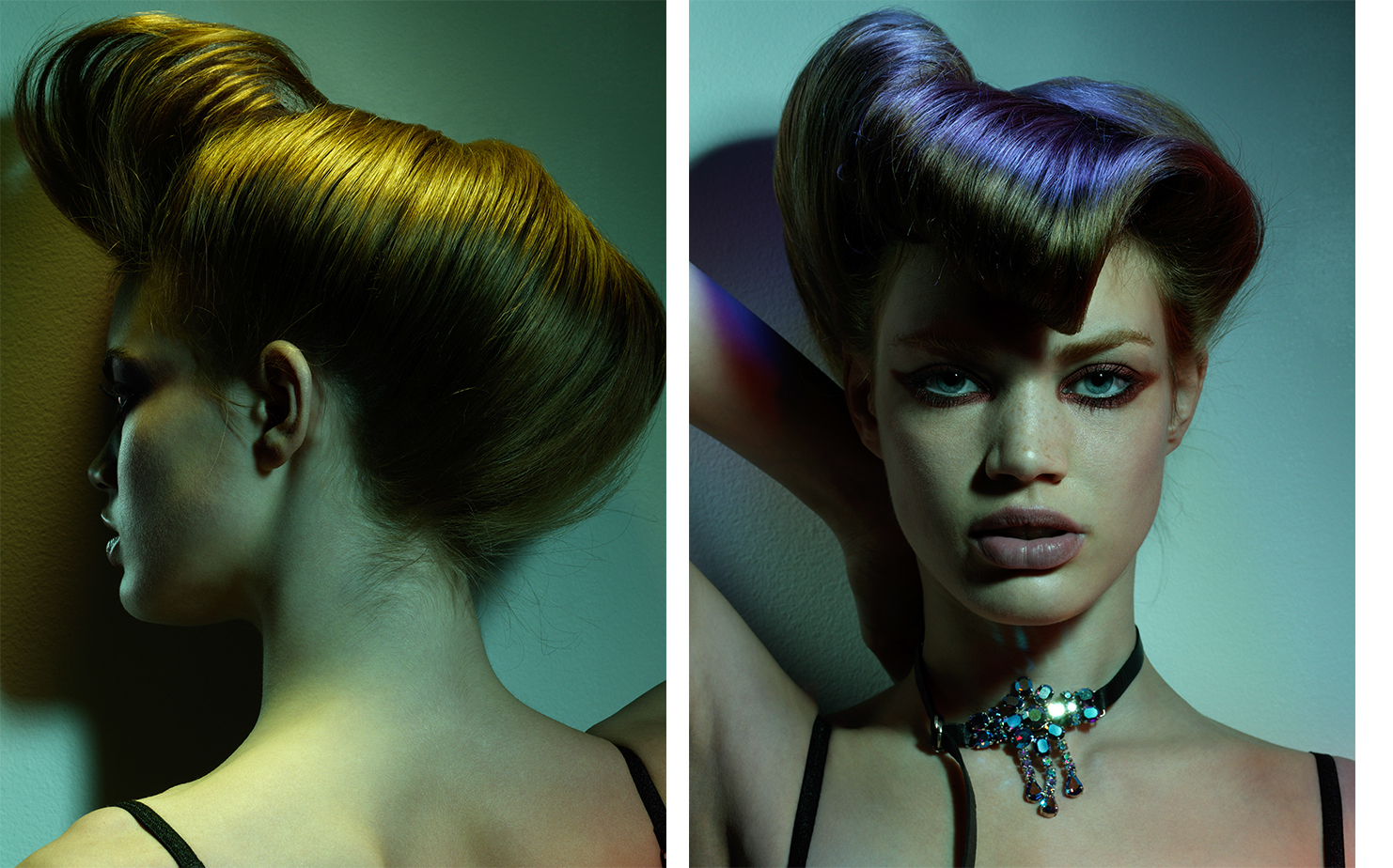 Flair COLORE GLAMOUR   FASHION EDITOR Tiina Laakkonen HAIR Yannick d'Is