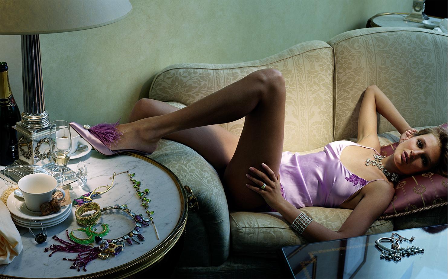 British Vogue THE MORNING AFTER   CREATIVE DIRECTOR Robin Derrick MODEL Bridget Hall