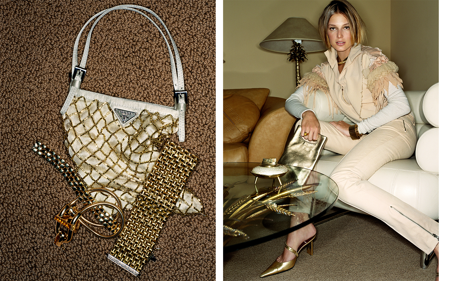 British Vogue GILT TRIP   FASHION EDITOR Tiina Laakkonen MODEL Bridget Hall