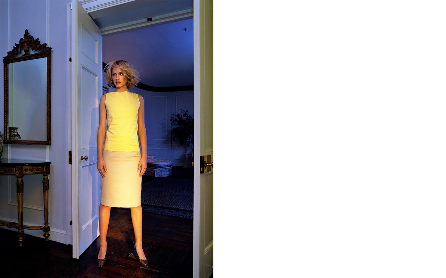 Harper's Bazaar   A VERY STYLISH GIRL   FASHION EDITOR Elissa Santisi MODEL Amber Valletta