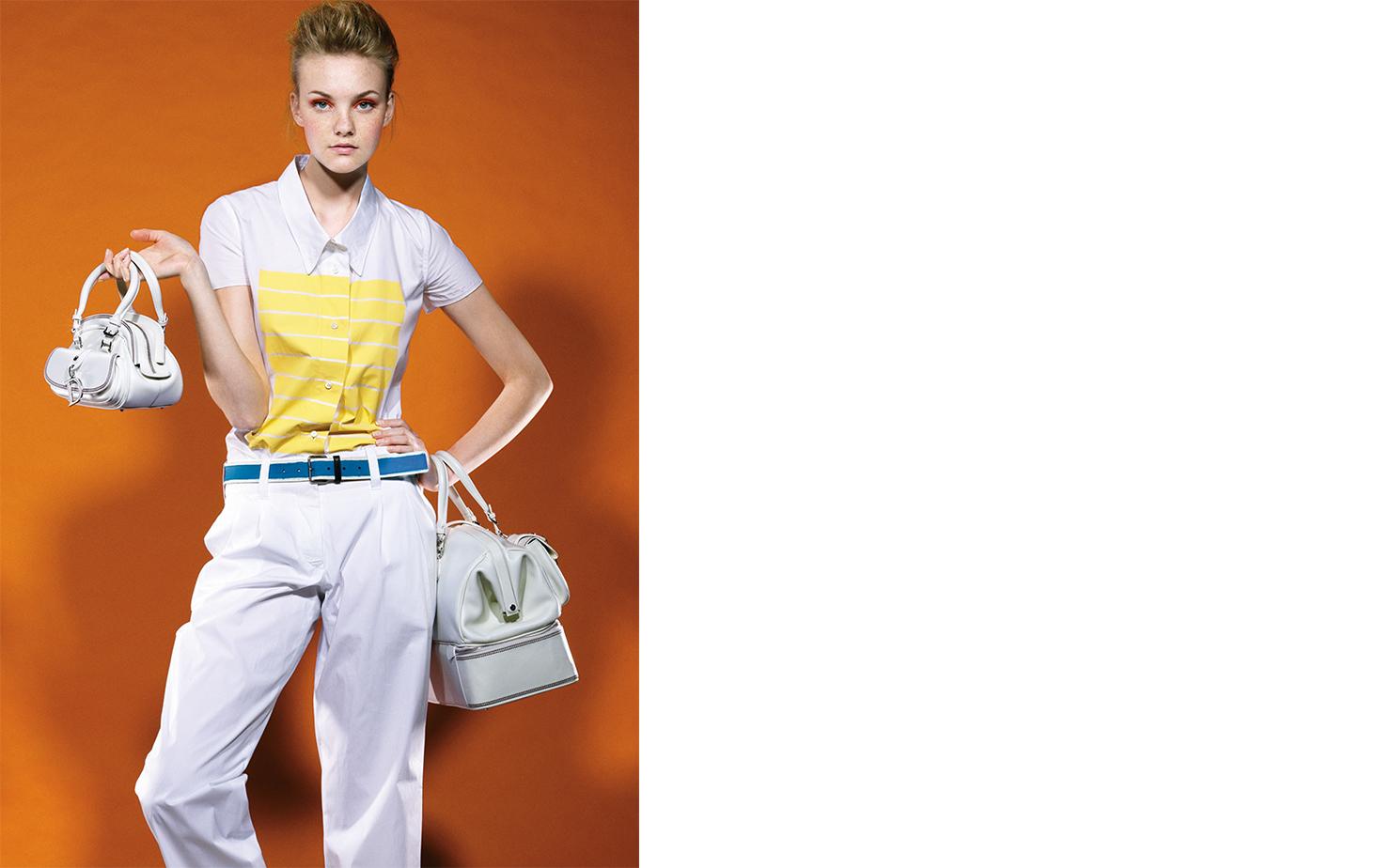 Vogue DOUBLE BAG IT   FASHION EDITOR Elissa Santisi MODEL Caroline Trentini