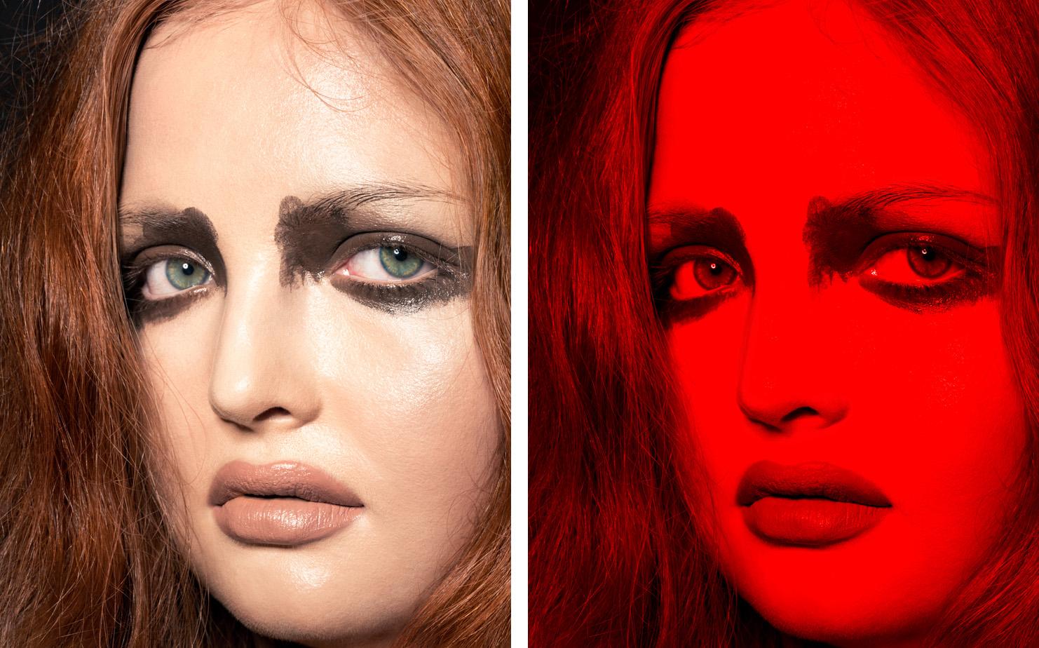 Vogue Italia A Vogue Tribute to Mina   CREATIVE DIRECTOR Giovanni Bianco  MAKEUP ARTIST Fulvia Farolfi  MODEL Tess McMillan