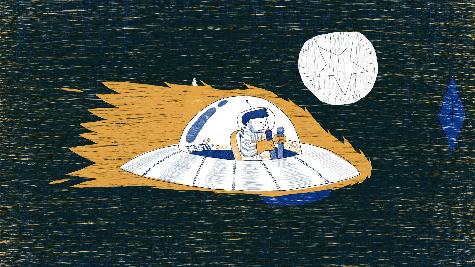 DEEP SPACE de Bruno Tondeur, 2014, Animation, 7'  Prix du Meilleur Film d'Animation francophone SACD à Clermont et Prix des auteurs à Anima en 2015   Brandon se voit confier sa première mission intergalactique : trouver une nouvelle espèce intelligente. Pendant de longs mois il va vivre une expérience étrange sur une planète aux mœurs étonnantes. Notre spationaute va devoir lutter mentalement et physiquement de tout son être.