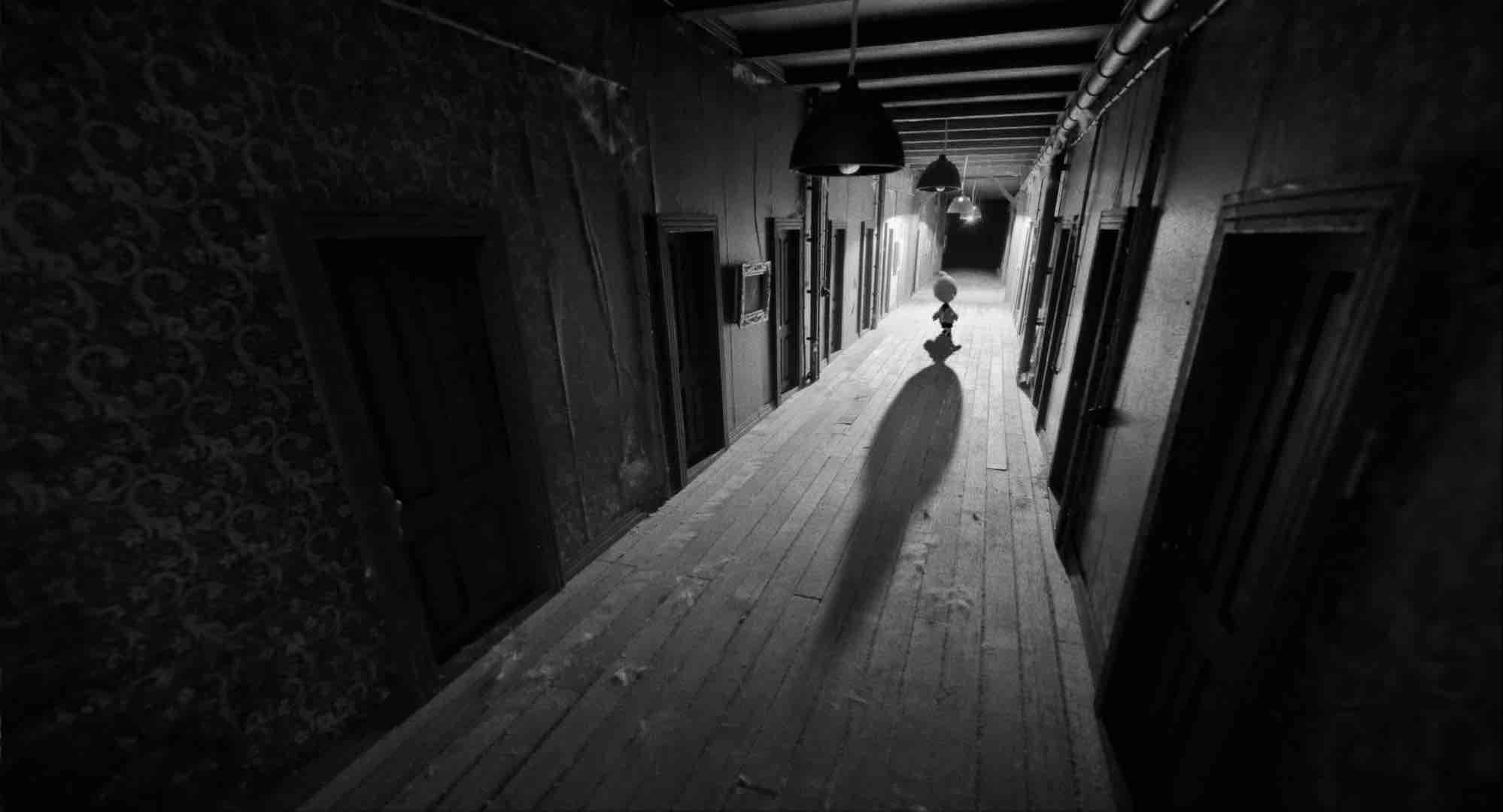 DERNIÈRE PORTE AU SUD de Sacha Feiner, 2015, animation, 14'  Magritte de la meilleure animation 2016, Grand Prix Anima 2015 et Prix du meilleur film d'animation à Clermont (2016)   Un enfant à deux têtes, que sa mère n'a jamais laissé sortir de l'immense manoir familial depuis sa naissance, aperçoit par accident une étrange lumière...