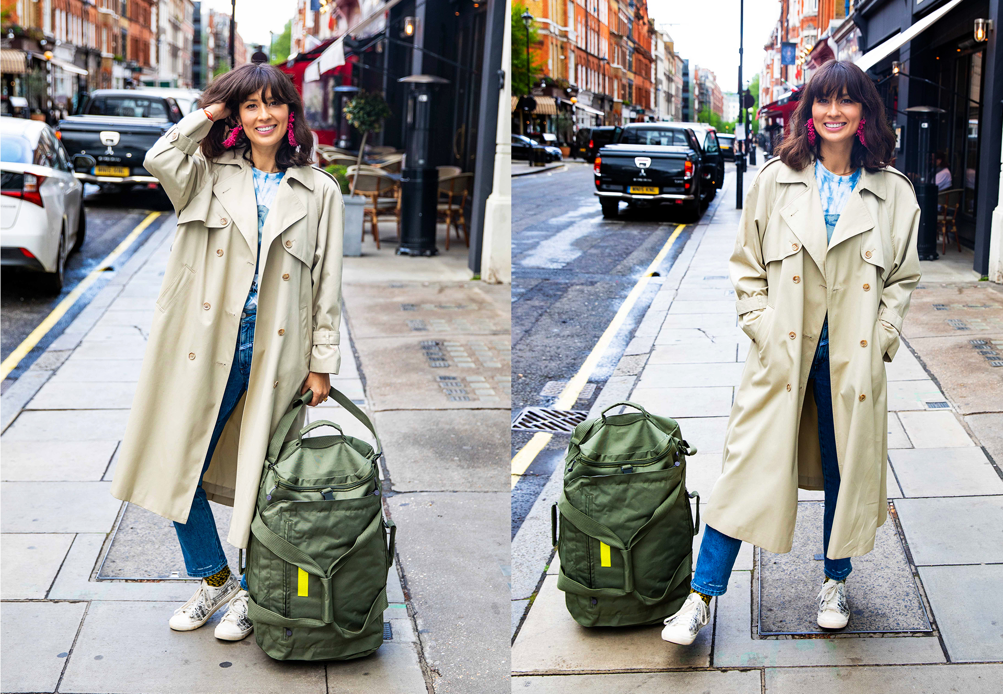 Lefrik suitcase, made from eco-friendly materials constructed from recycled PET plastic bottles, available from    The Maverick Store    from 1st October