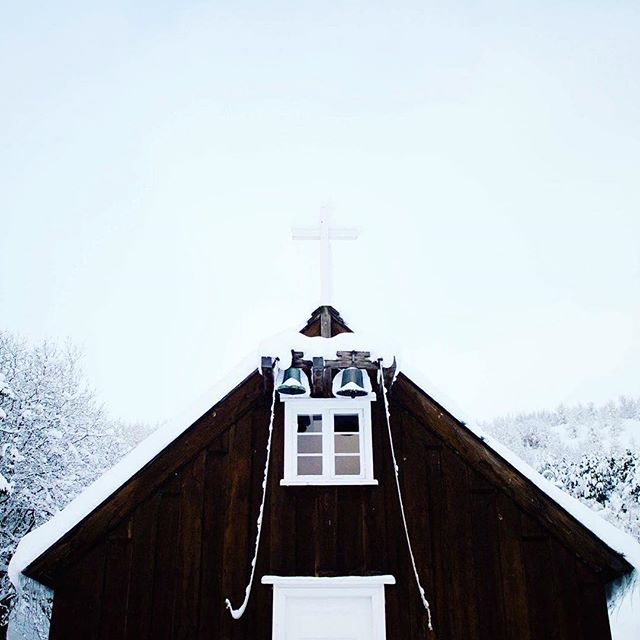 #winter #december #akureyri #iceland #church 🎄