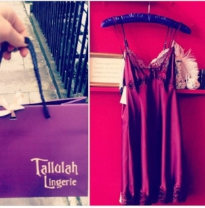 My favourite shop in London! If I am ever having a bad day or just need a new bra/nightie I always pop in and just have the best time trying on the most beautiful silk and lace garments at www.tallulah-lingerie.co.uk