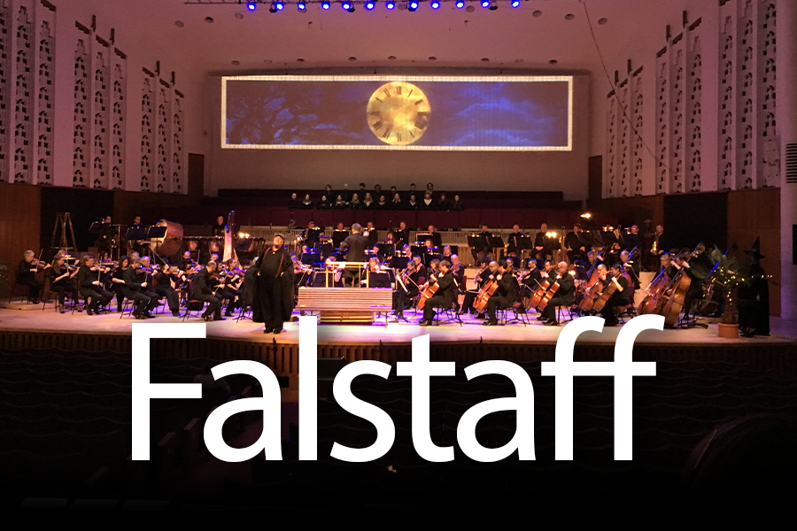 Falstaff first opened at the Liverpool Philharmonic in 2017. We designed over two hours of video content for the show