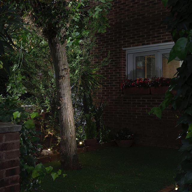 Simplemente con instalar 3 puntos de luz focal dirigida a la vegetación, hemos conseguido cambiar por completo la entrada a esta vivienda. #ygiluminacion #proyectosdeiluminacion #iluminaciondejardines #iluminacionexterior #diseñodeiluminación #lightdesing #lightproject #gardenlight