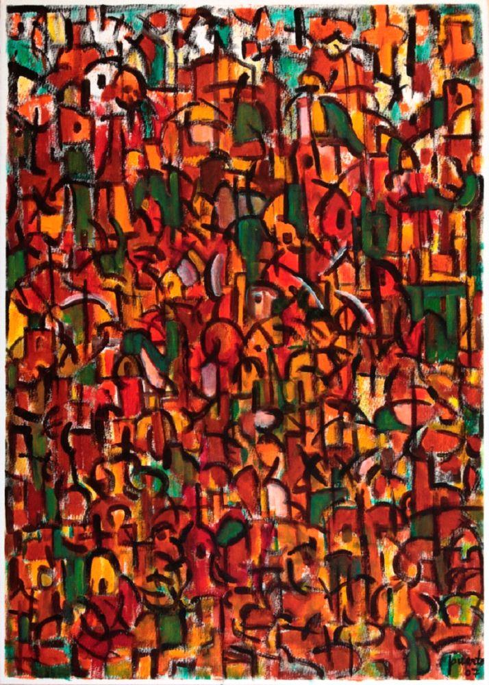 Tormenta de color: Rojo, 2007, 70X50 cm