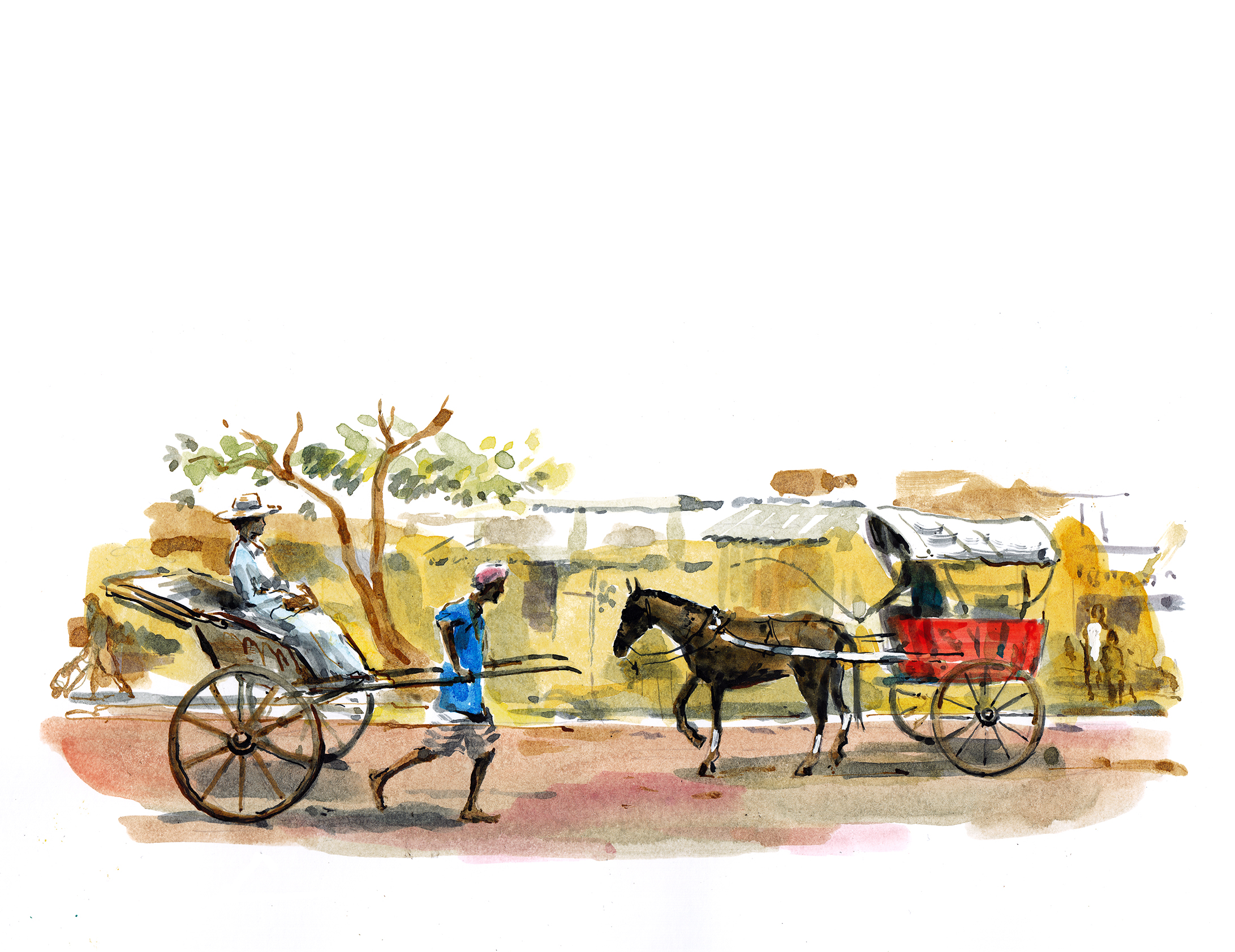 Tanga and rickshaw