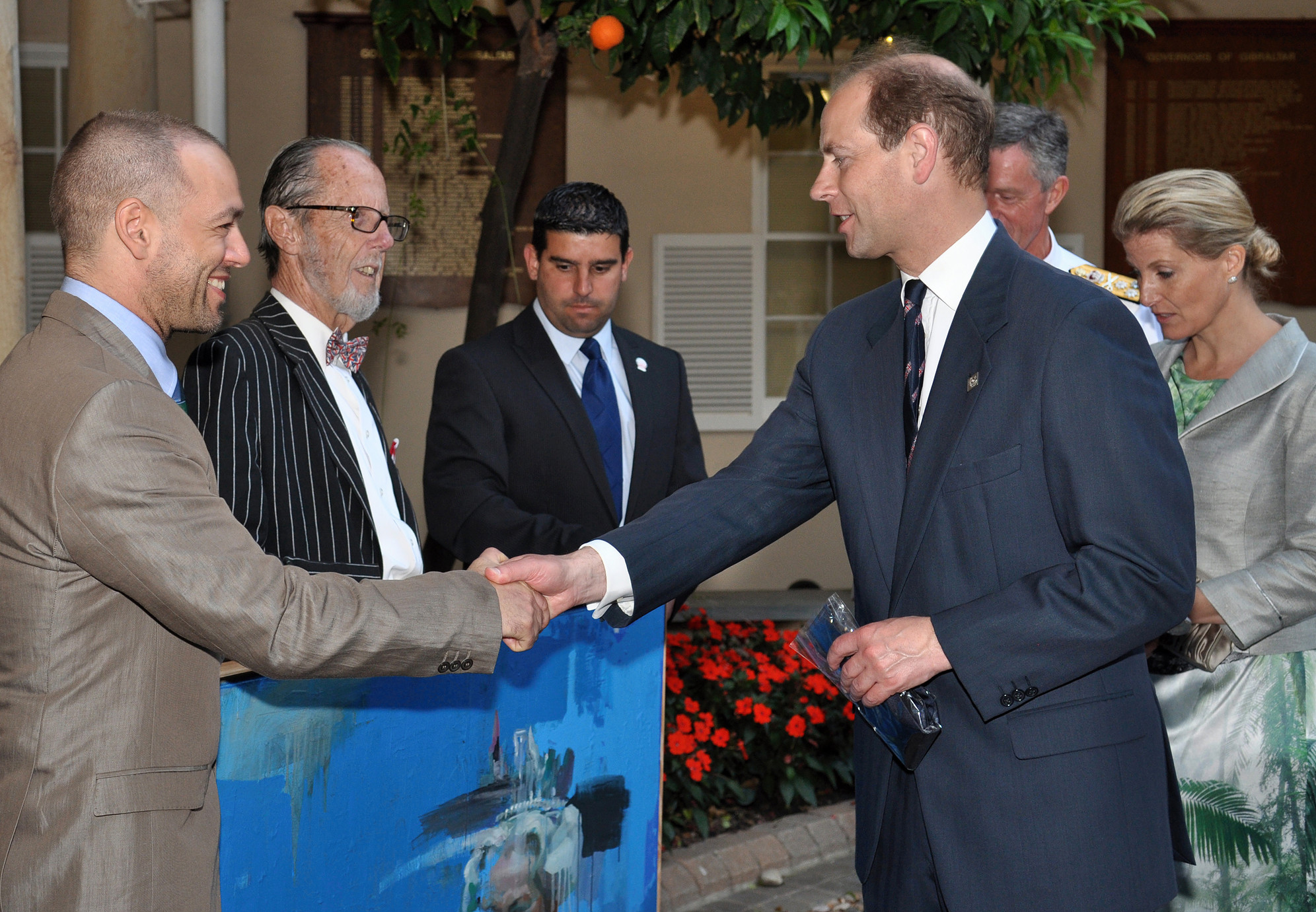 Prince Edward Earl of Wessex collecting portrait of HRH.