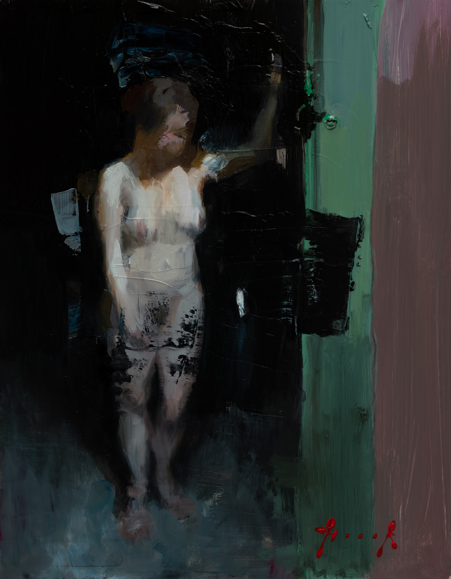 Green door (oil sketch)
