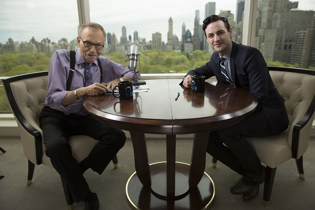 Max with Larry King on Larry King Now