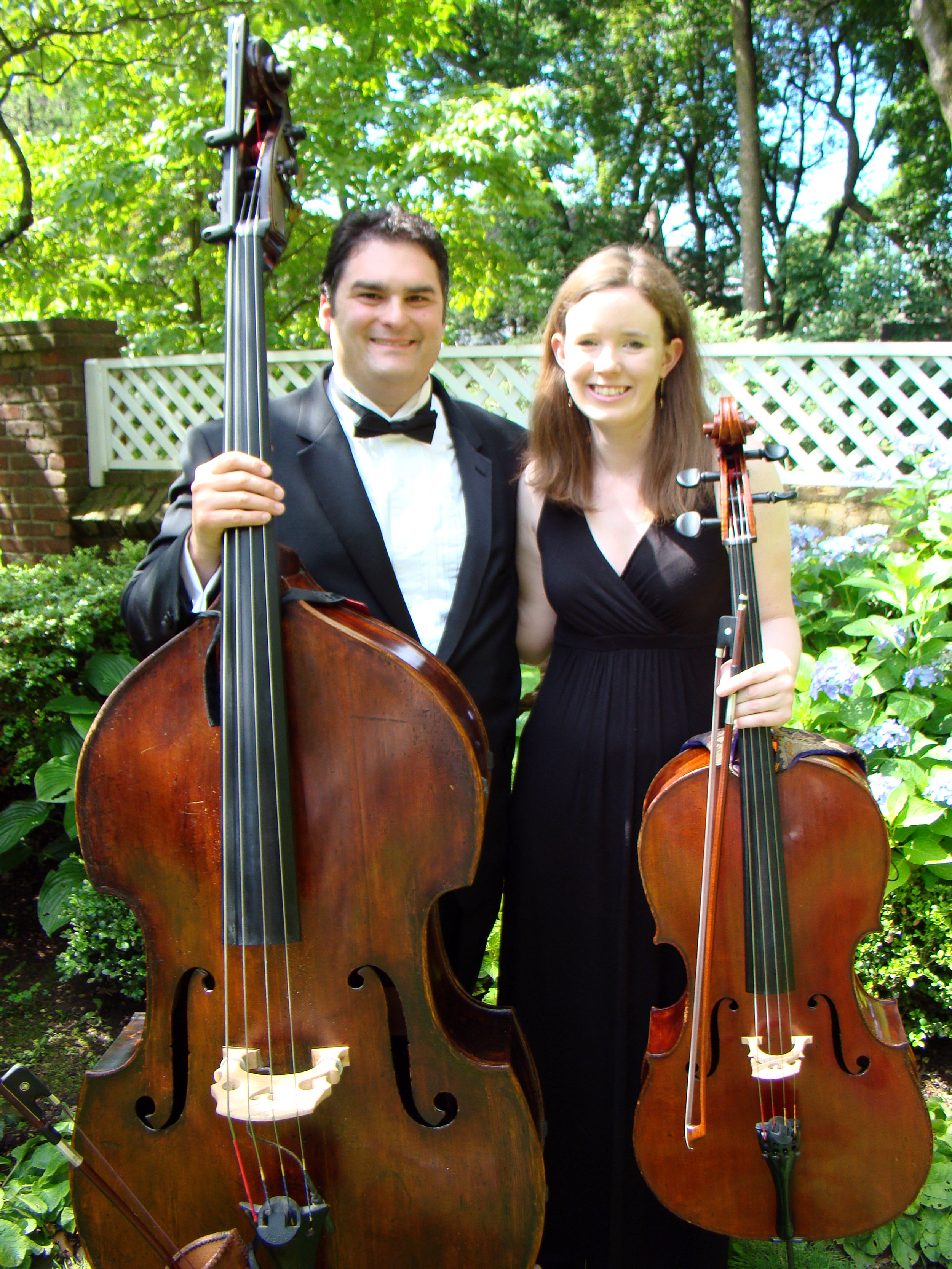 Justin and Elizabeth, cello bass | Allemande Ensembles, LLC