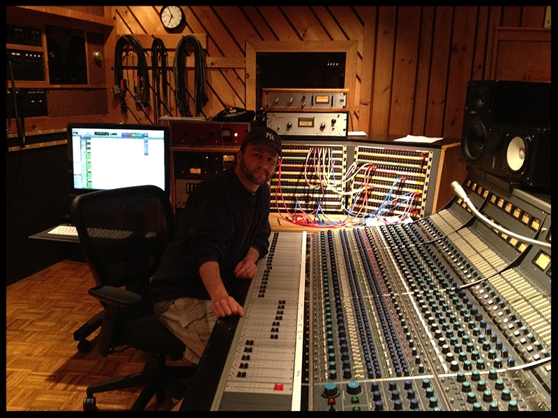 Vince with Avatar Studio's Neve Console