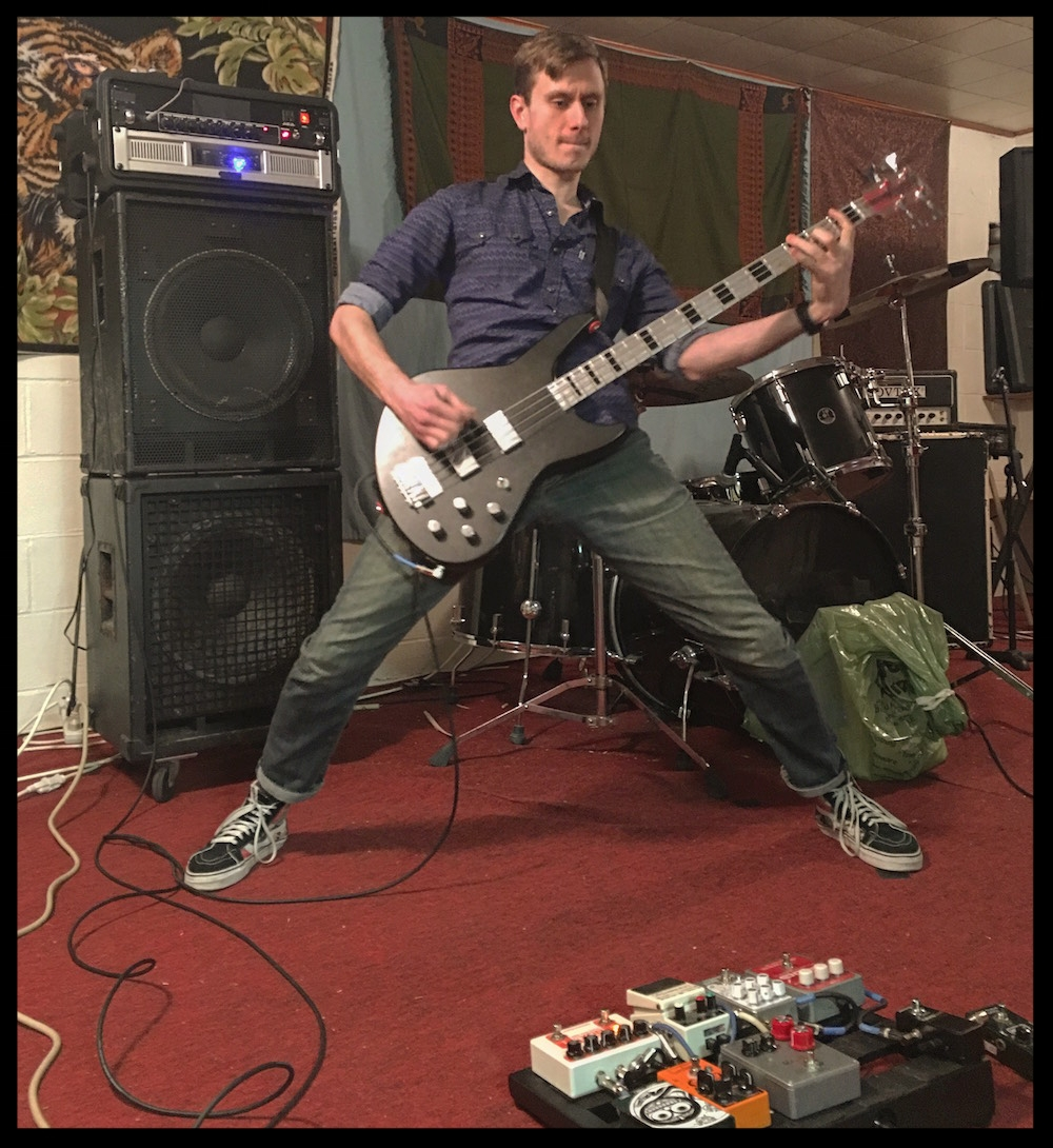 Aaron power-stancin' at his practice spot. Photo: Bradley Thorla