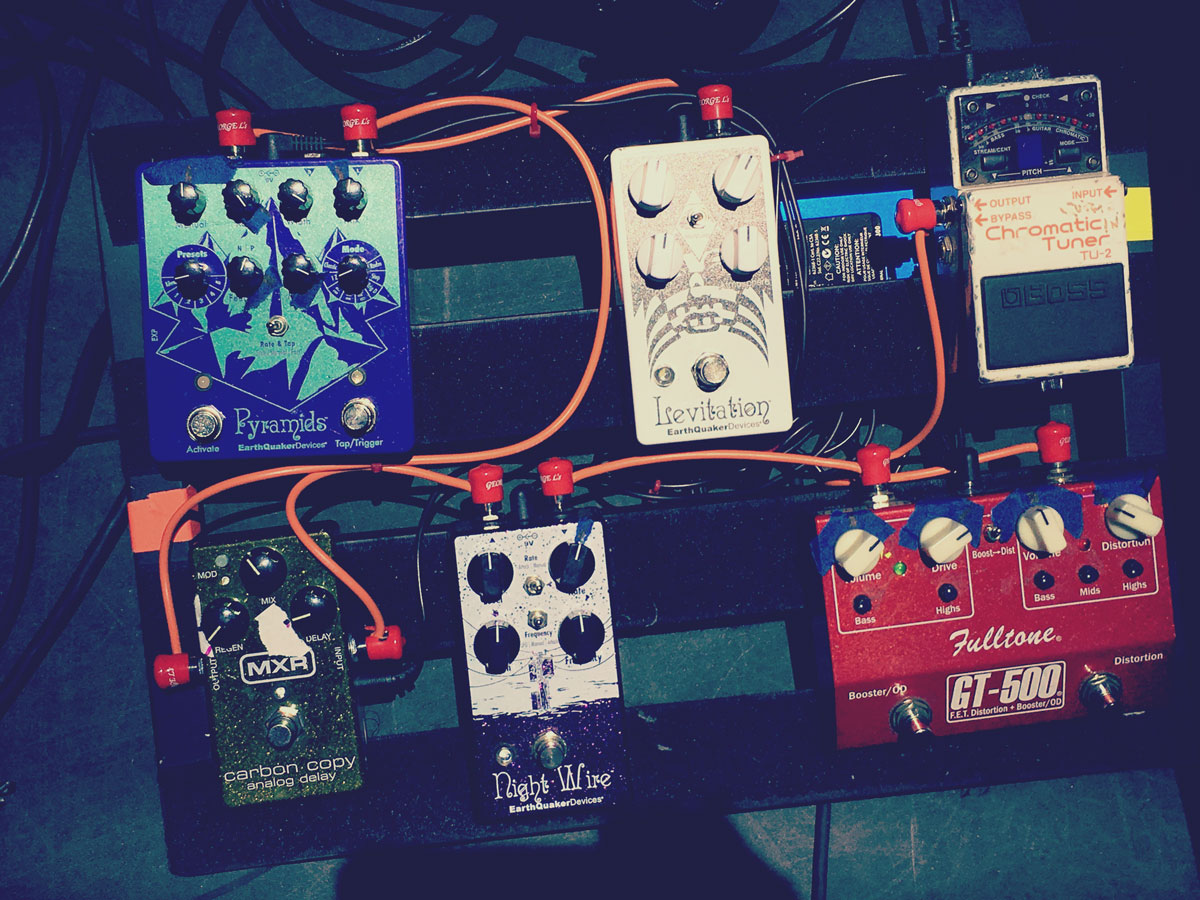 Betsy Wright's Pedalboard