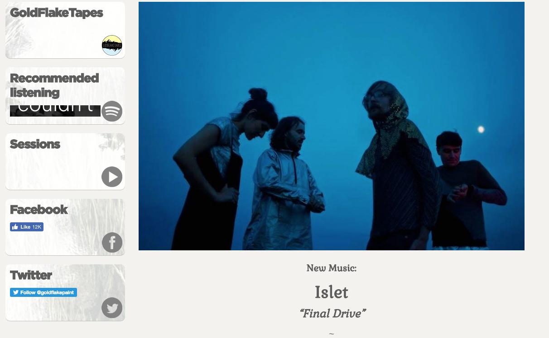 Gold Flak Paint 'New Music'