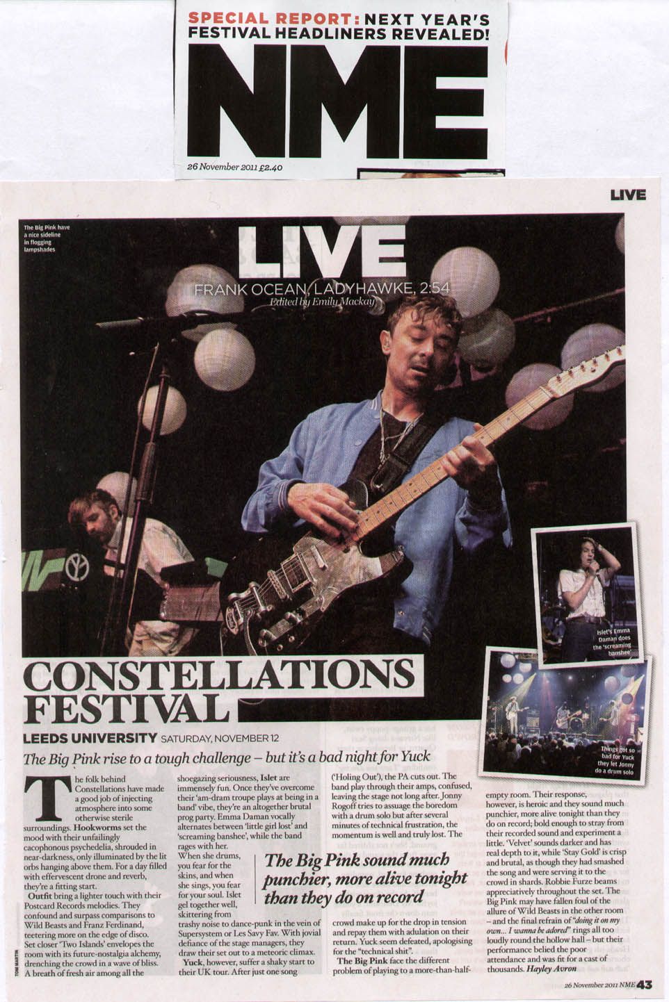 NME live review 2011