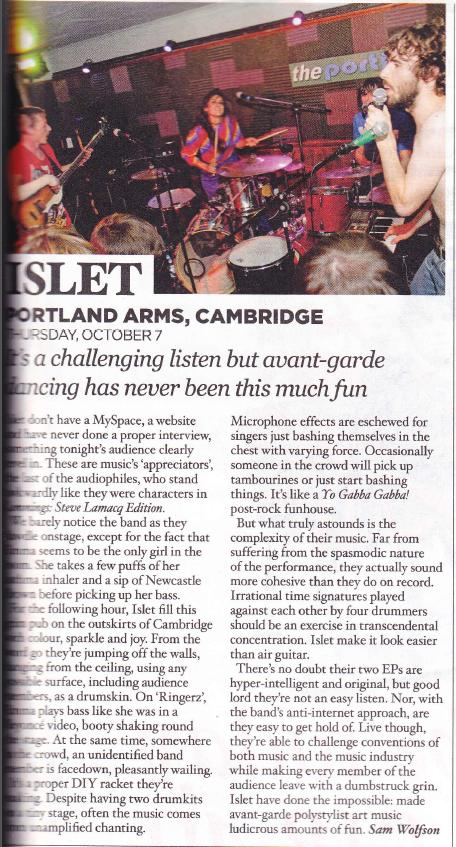 NME live review 2009
