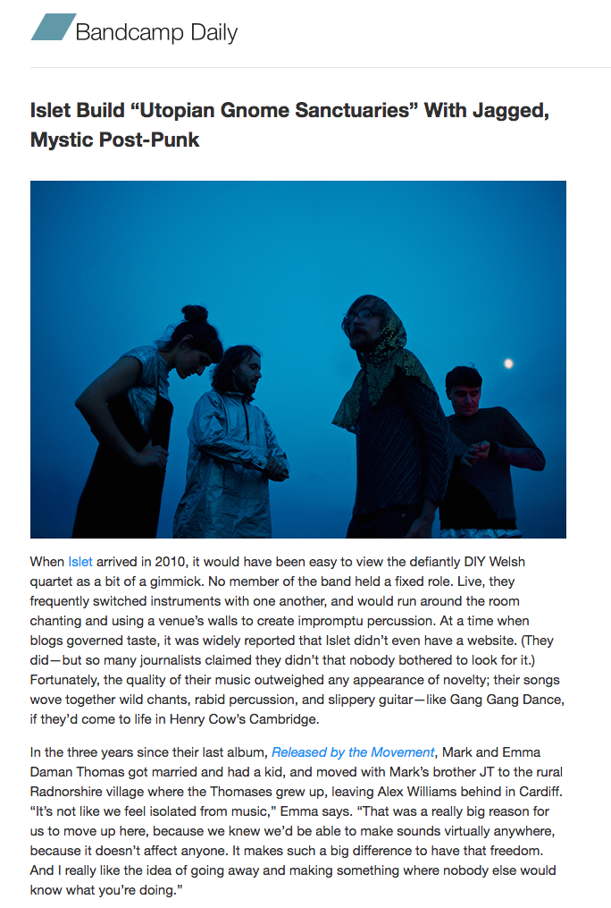 Bandcamp daily interview 2016