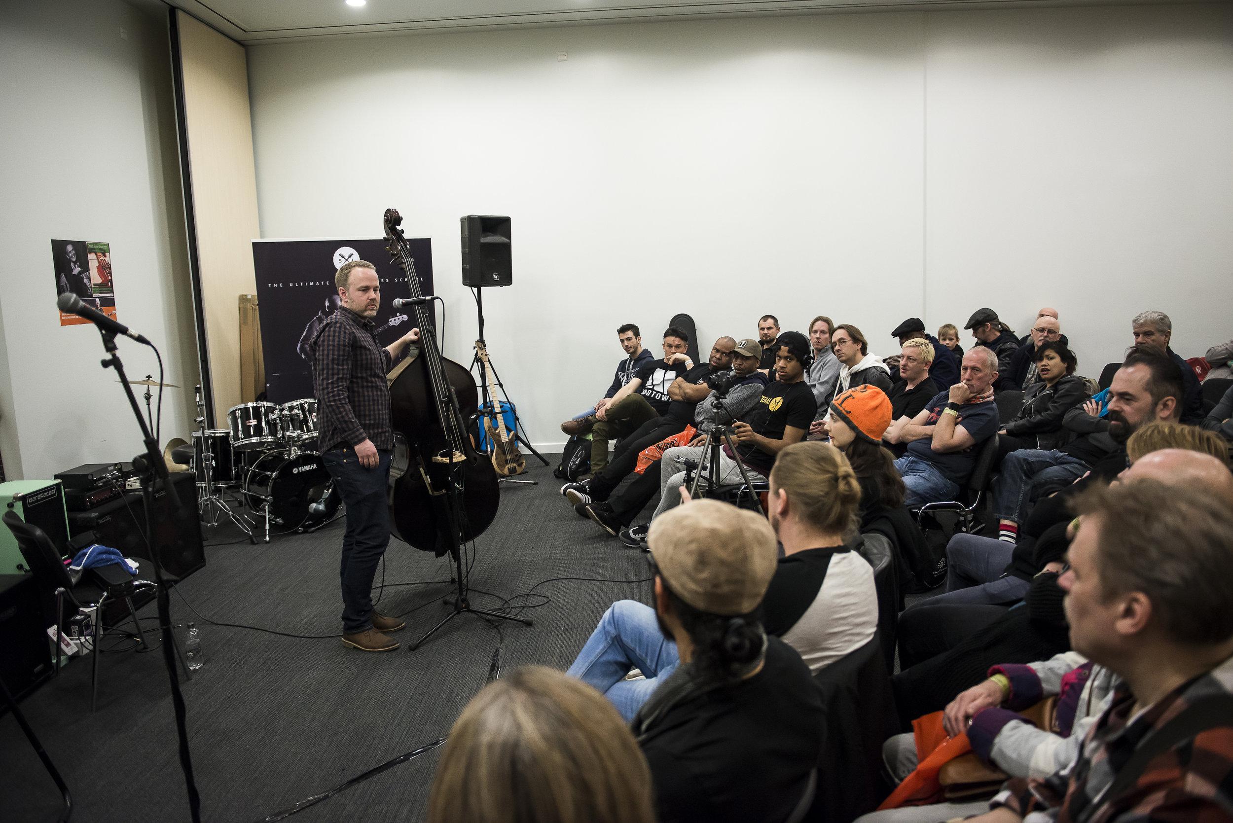 London Bass Guitar Show workshop (photo by Future Publishing)