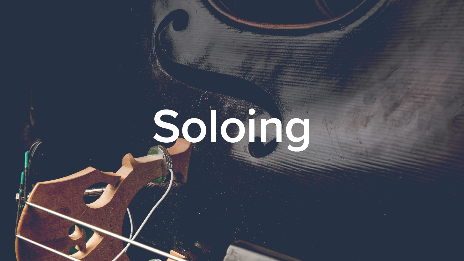 'Soloing: A step-by-step method' by Geoff Chalmers. 50 lessons, 4.5hrs.