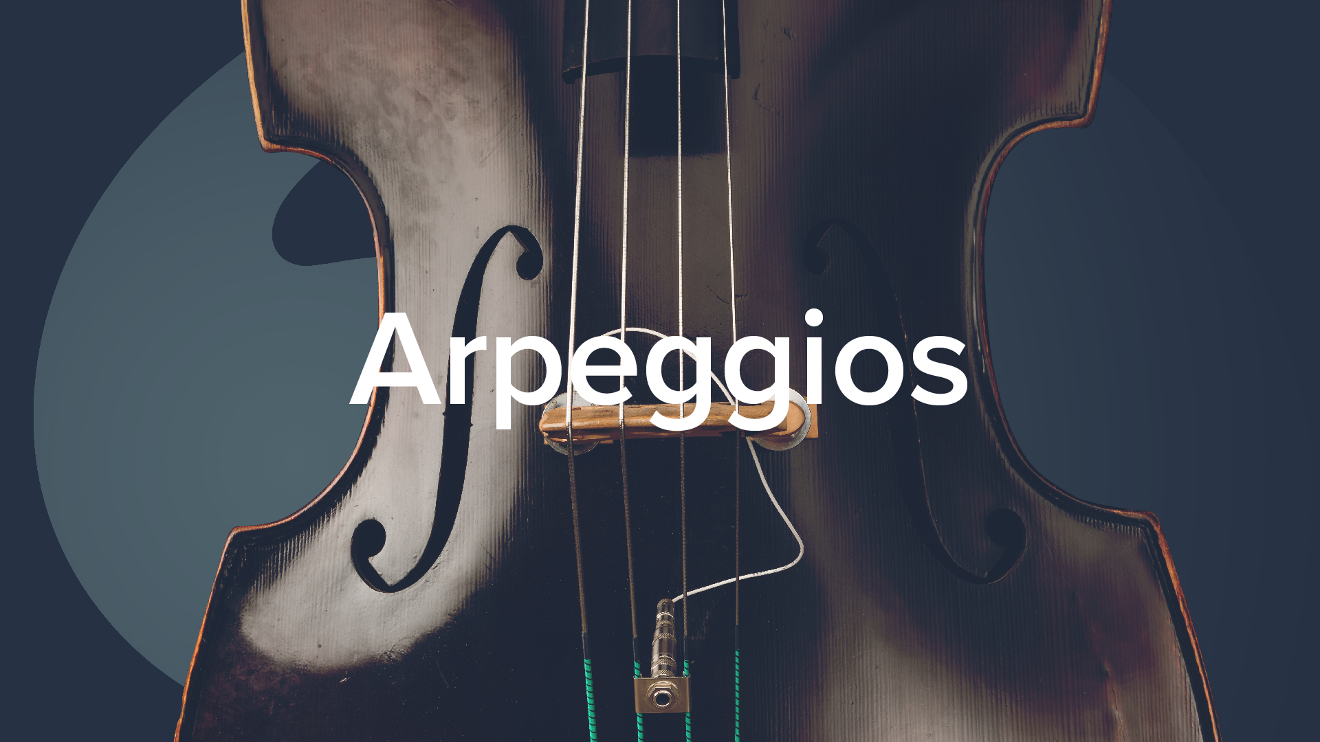 'Double Bass Arpeggios' by Geoff Chalmers.