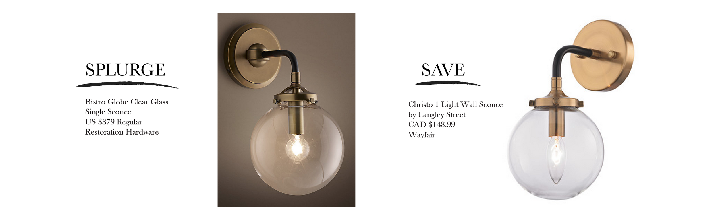 These lights are so similar... and check out the incredible savings!